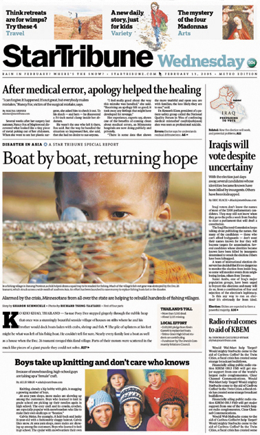 Minneapolis StarTribune – Front Pages 1