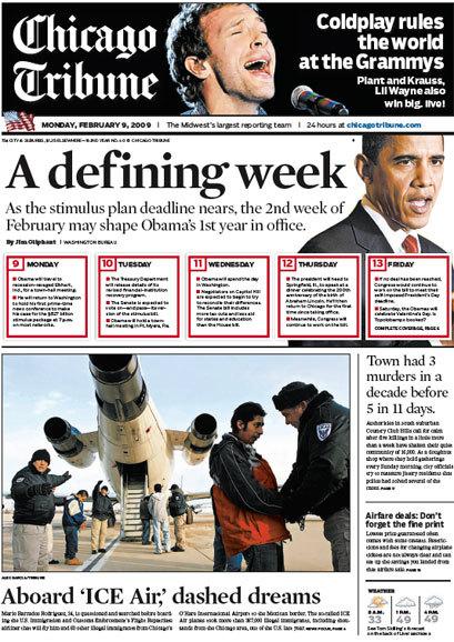 Chicago Tribune, 2008–09 10