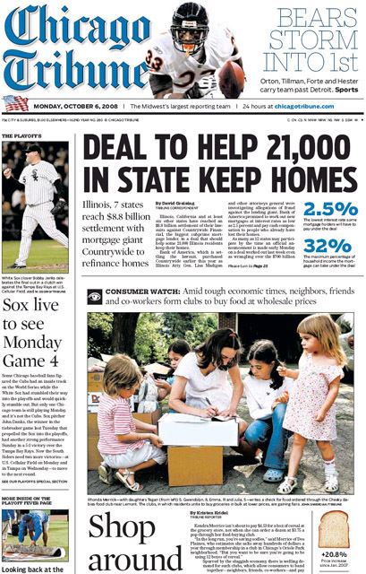 Chicago Tribune, 2008–09 6