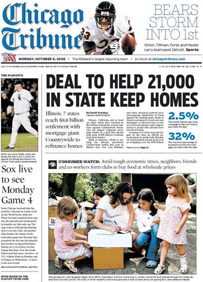 Chicago Tribune, 2008–09 12