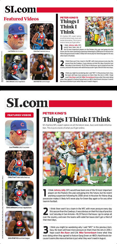 Sports Illustrated – 2010 inside pages 5