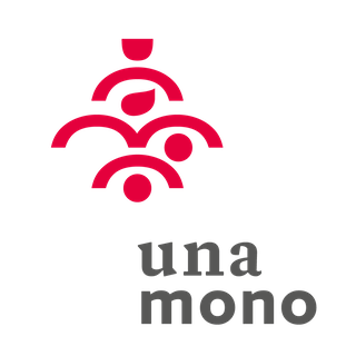 unamomo logo and label 1