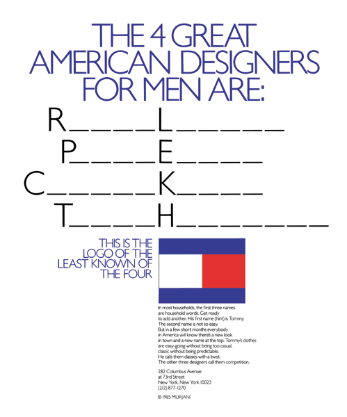Tommy Hilfiger Launch Campaign And Identity Fonts In Use