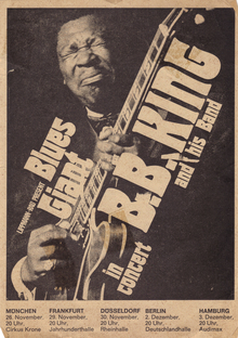 B.B. King 1971 German tour poster