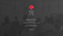 Ruby Conf LT '15