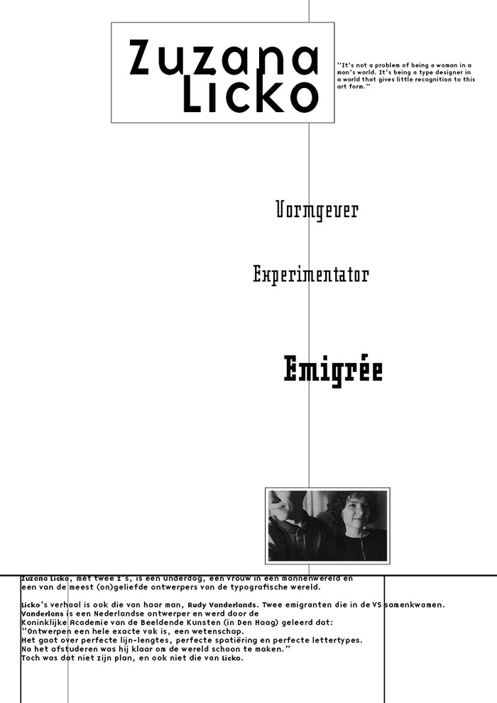 Zuzana Licko pamphlet 3