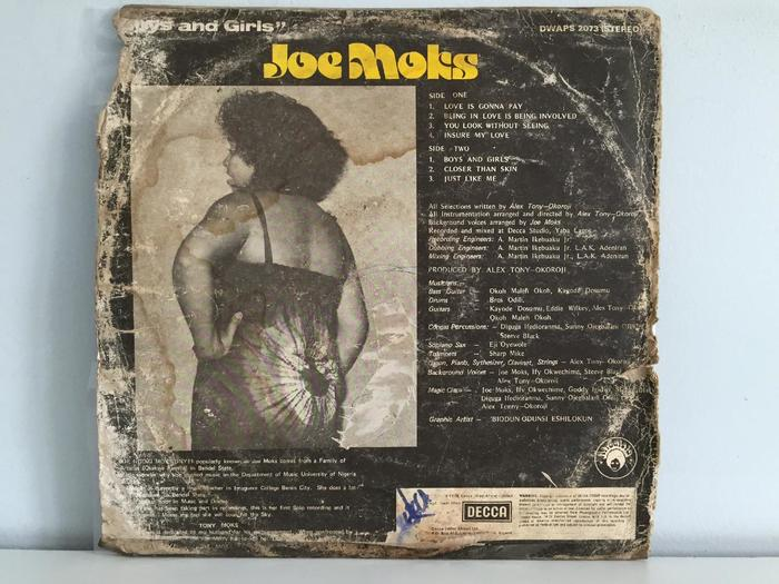 Joe Moks – Boys and Girls album art 3
