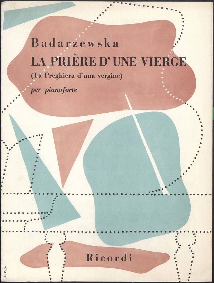 Piano music for Tekla Badarzewska: La Prière d'Une Vierge