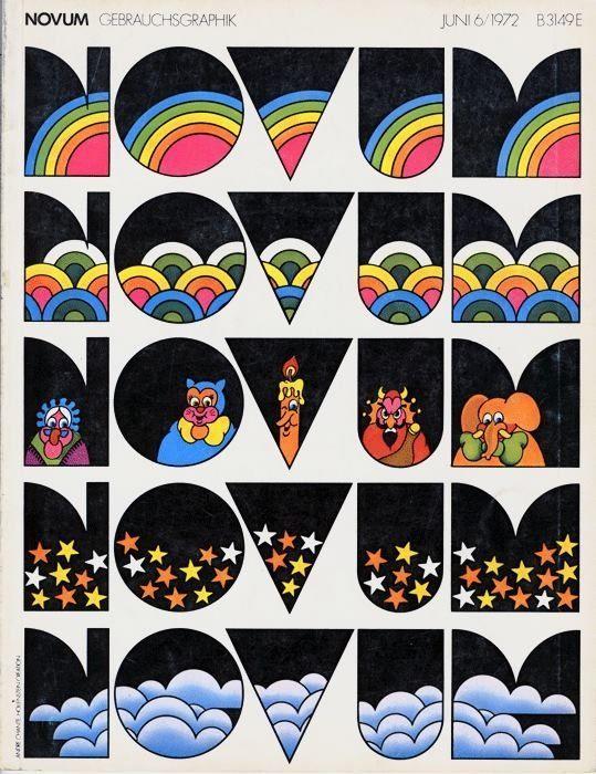 Novum Gebrauchsgraphik, Issue 6/1972