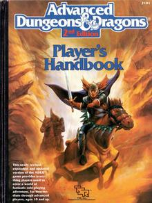 <cite>Advanced Dungeons &amp; Dragons</cite>, 2nd Edition logo and handbooks