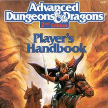 <cite>Advanced Dungeons &amp; Dragons</cite>, 2nd Edition logo and&nbsp;handbooks