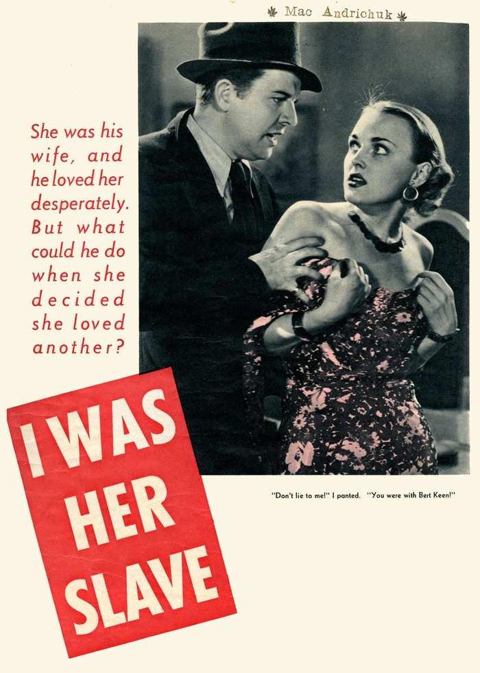 I Was Her Slave story opener in True Romance, 1938
