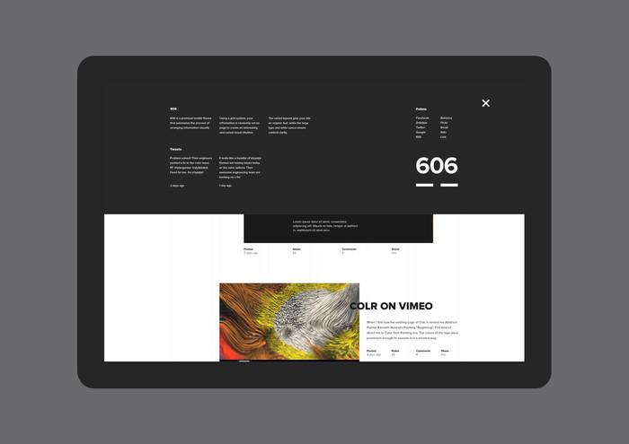 606 Tumblr Theme 6