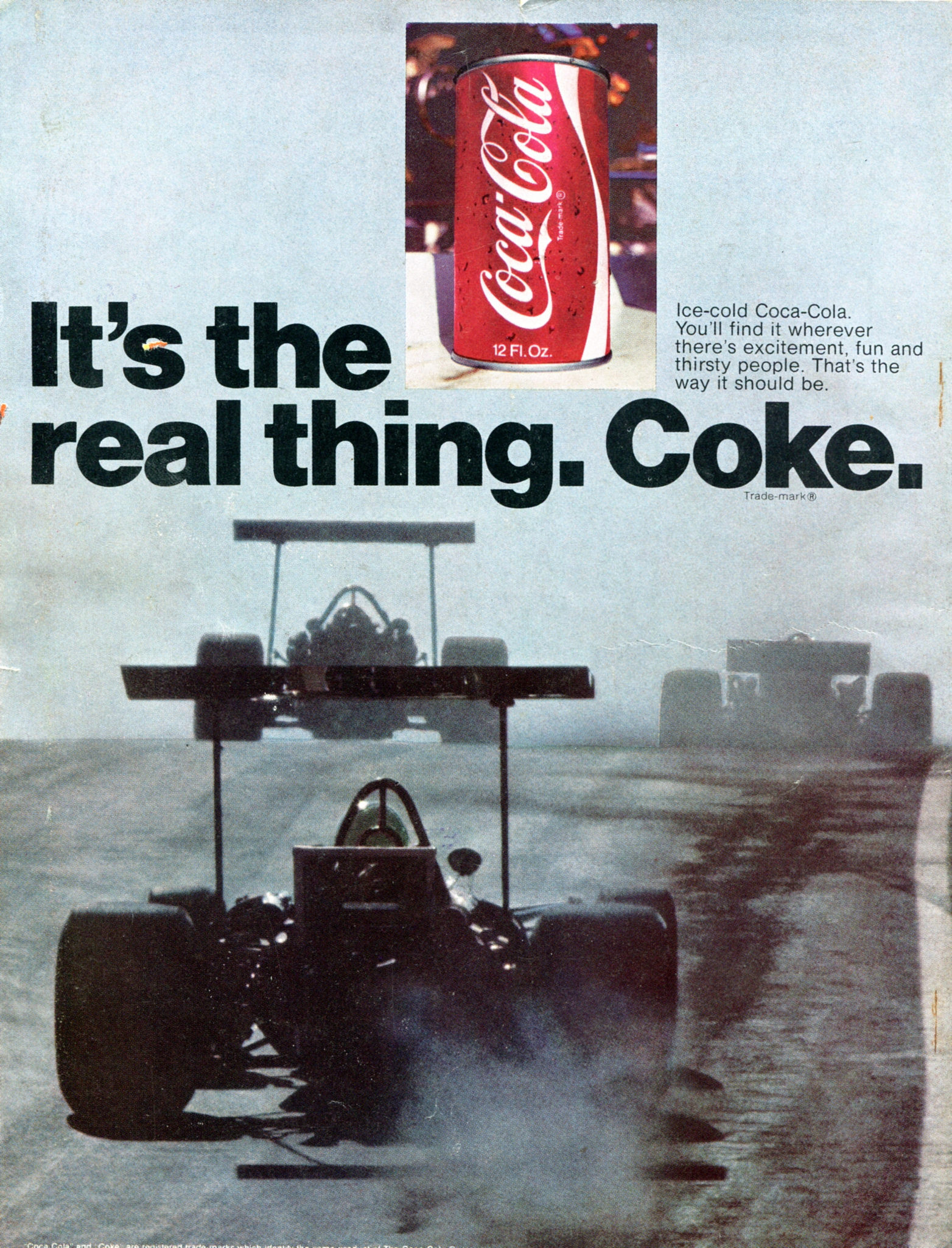 "It's the real thing "" Coca-Cola Ads (1969–74) - Fonts In Use"
