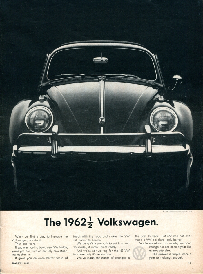 """""""The 1962½ Volkswagen.""""  Car And Driver, Mar 1962"""