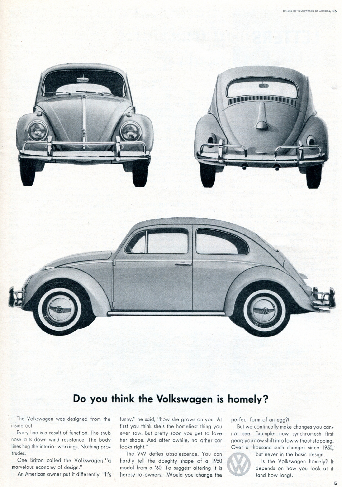 Volkswagen of America ads, 1960–66 - Fonts In Use
