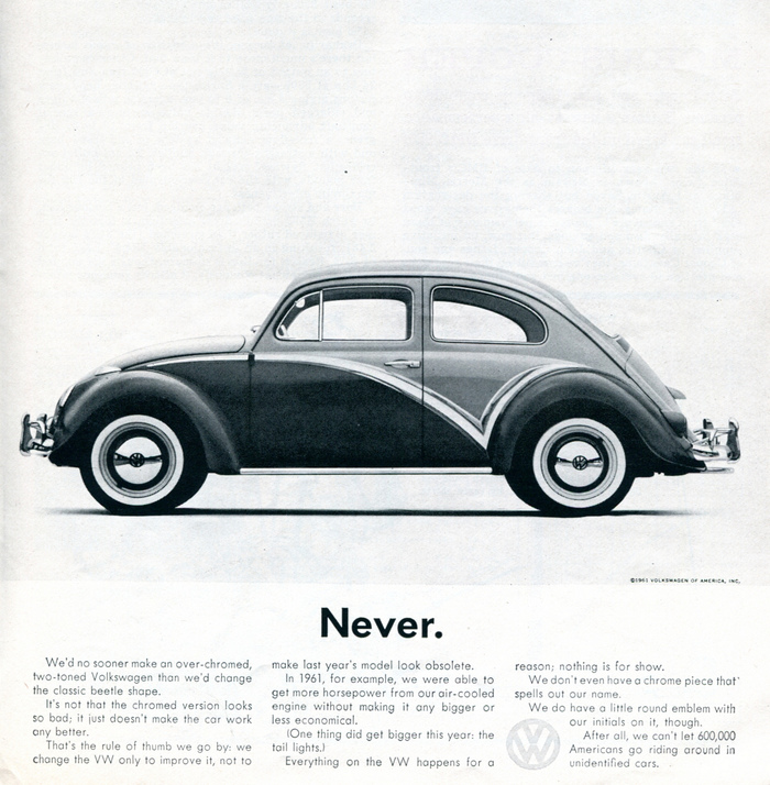 """Never."" Car and Driver, Nov 1961"