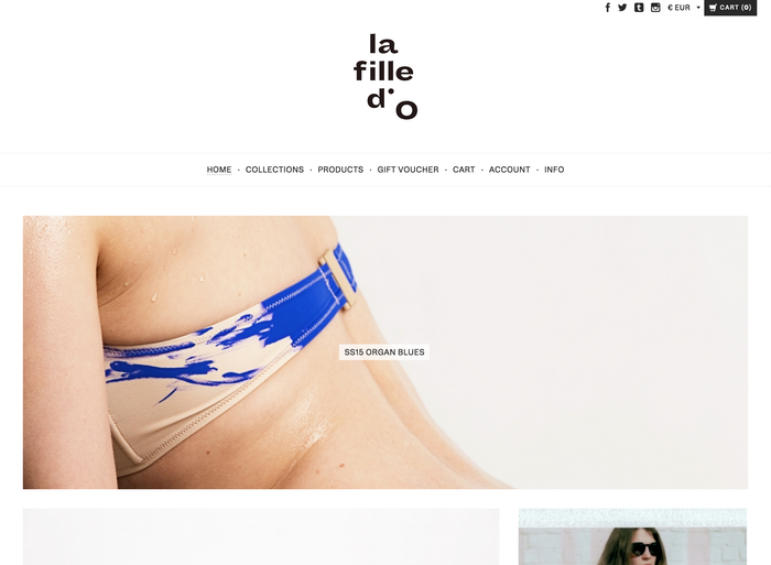 La Fille d'O identity and website (2015) 2
