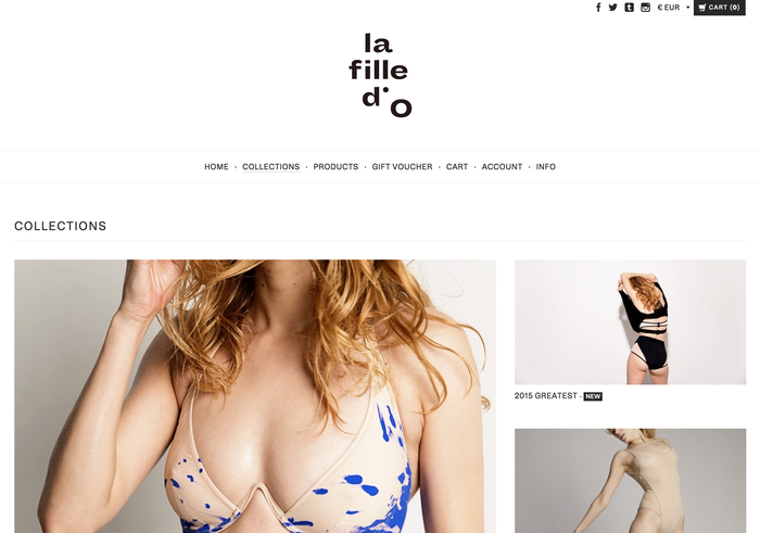 La Fille d'O identity and website (2015) 3
