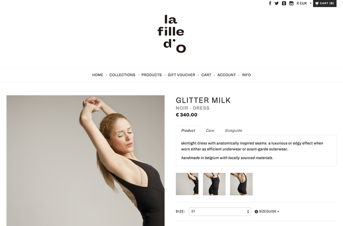 La Fille d'O identity and website (2015) 4