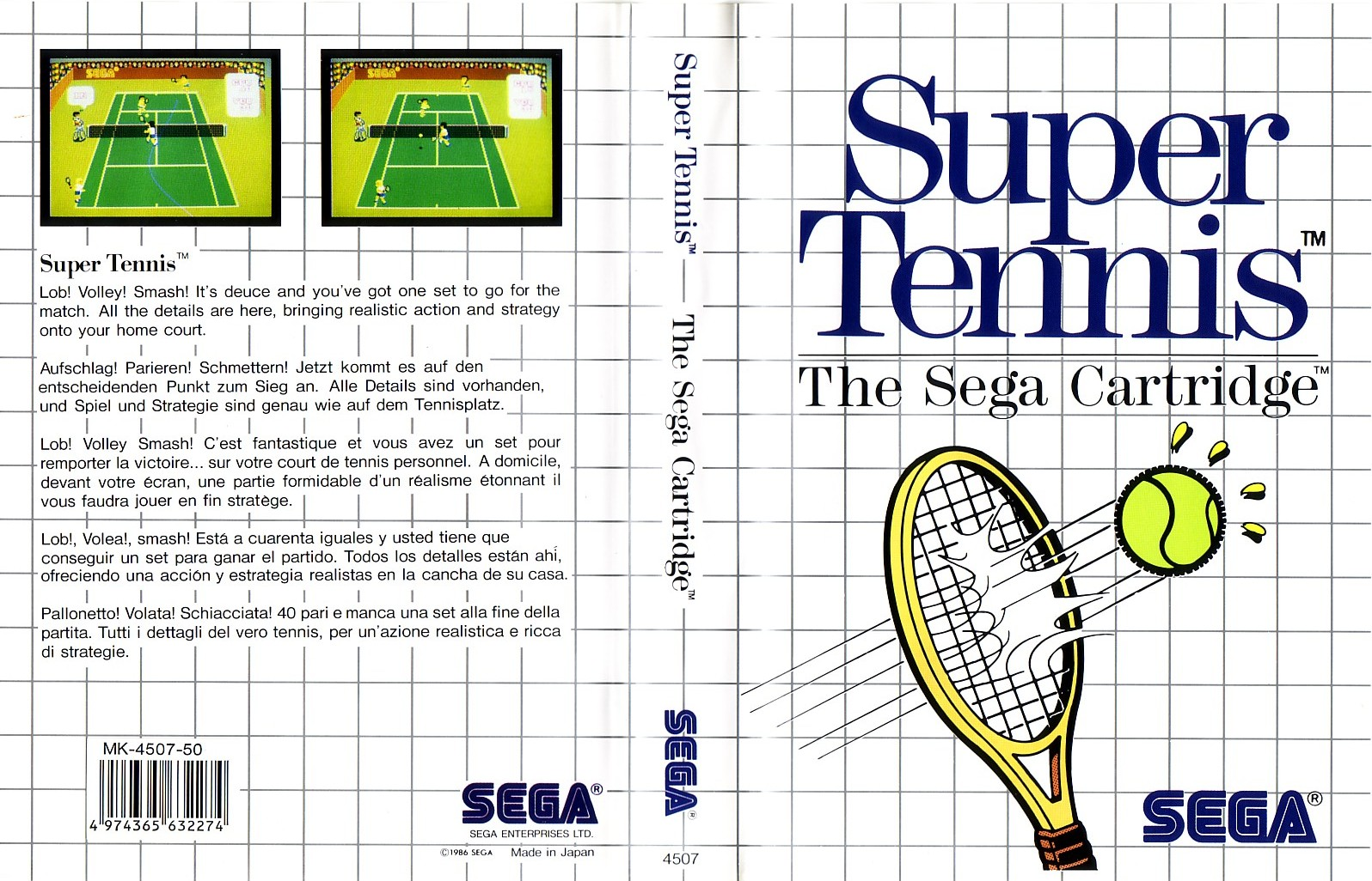 Sega Master System logo and accessory/game packaging - Fonts