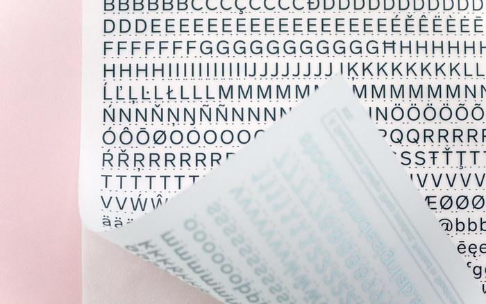 Lab Grotesque Letraset-style transfer sheet 1