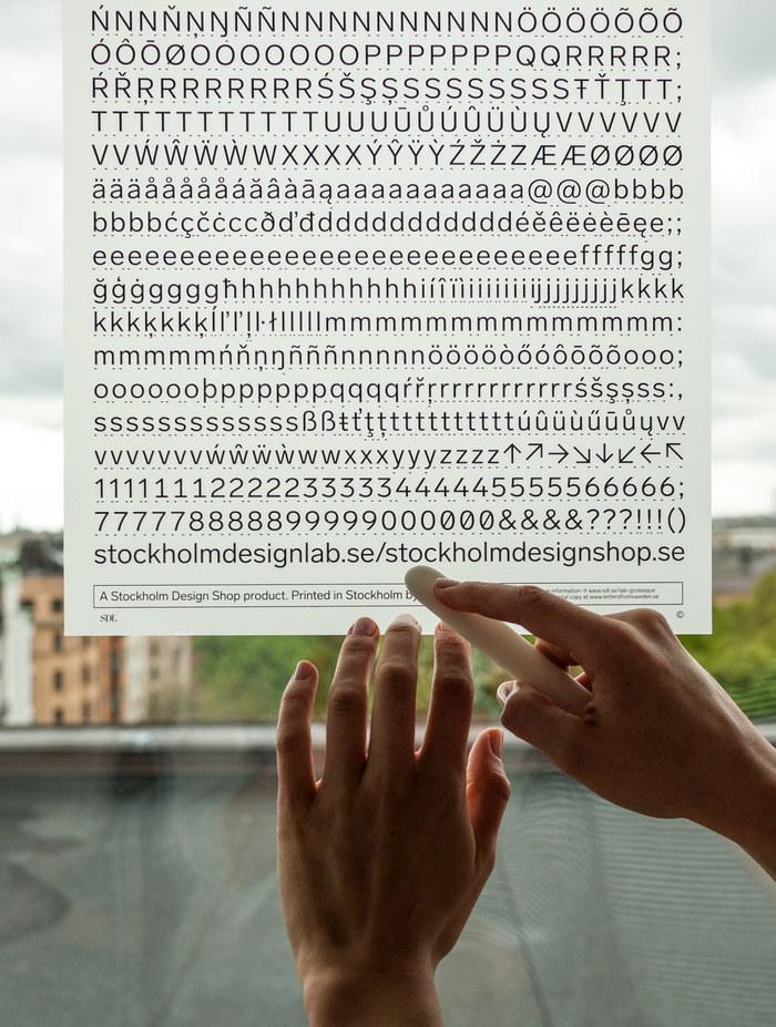 Lab Grotesque Letraset-style transfer sheet 5