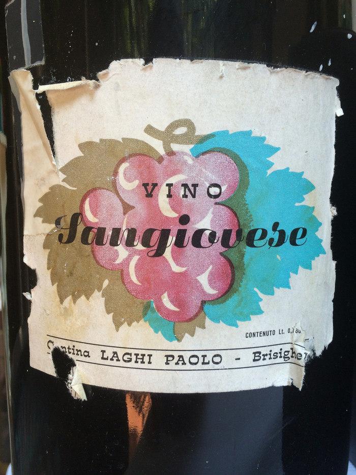 Vino Sangiovese wine label