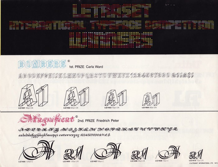 18 New Type Faces – Letraset Letragraphica 2