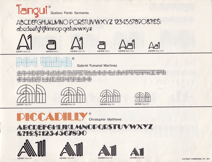 18 New Type Faces – Letraset Letragraphica 3