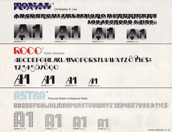 18 New Type Faces – Letraset Letragraphica 4