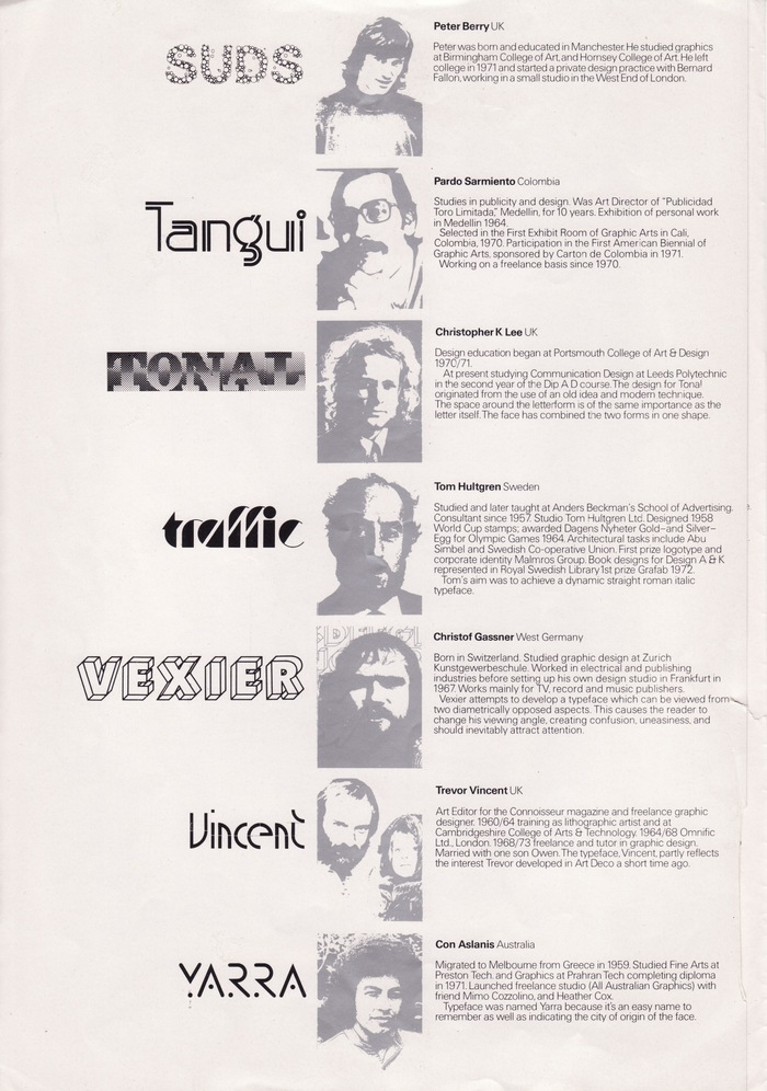 Letraset International Typeface Competition Winners 1973 4