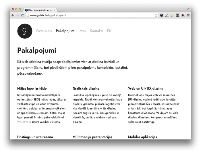 Graftik website 4