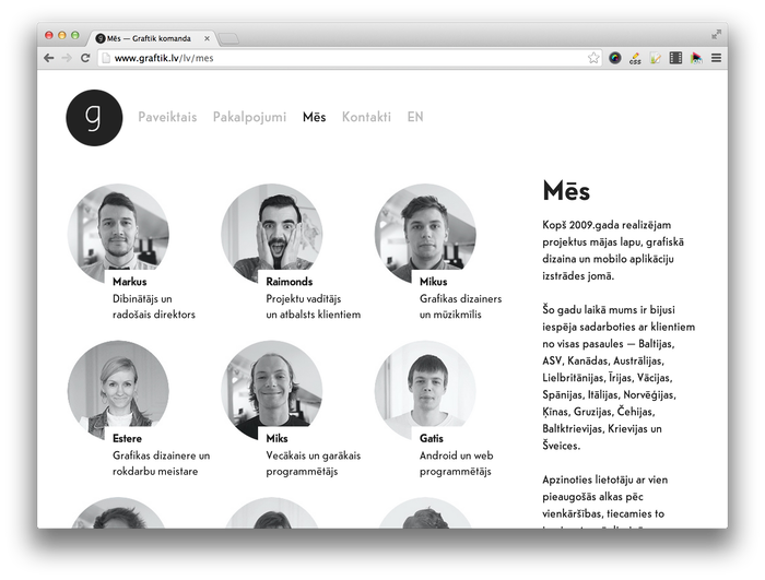 Graftik website 5