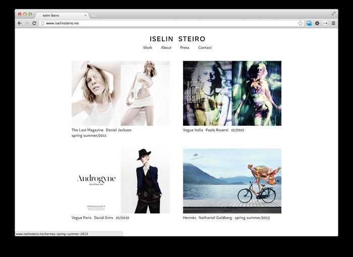 Iselin Steiro website 2