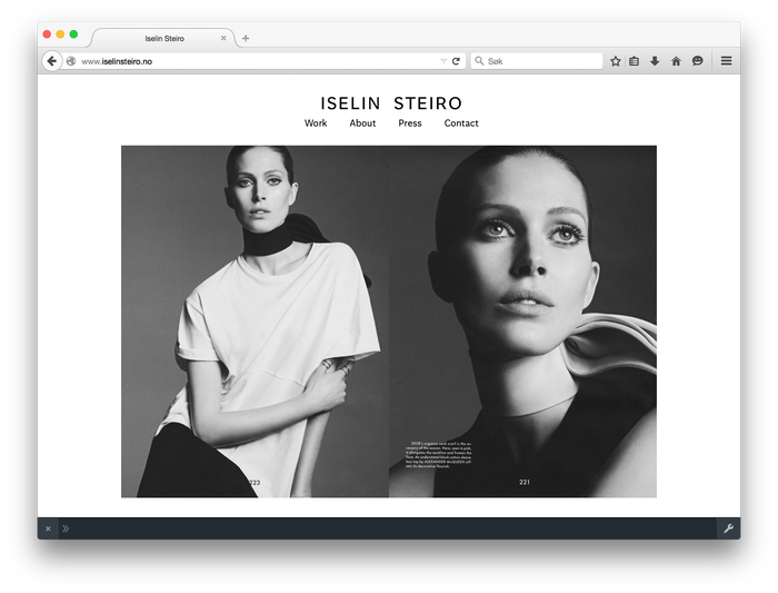 Iselin Steiro website 3