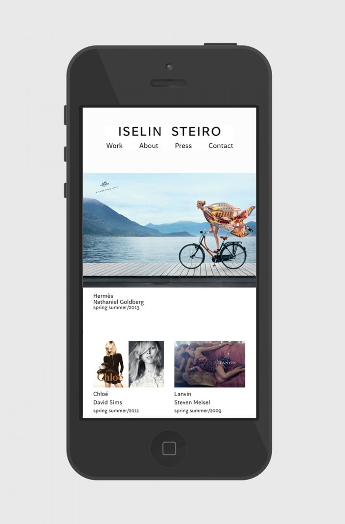 Iselin Steiro website 5