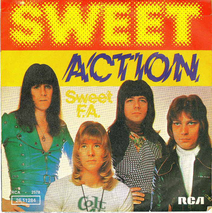 """Sweet – """"Action"""" / """"Sweet F.A."""" German single cover"""