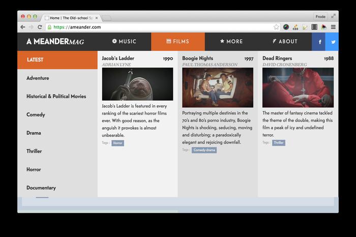 A Meander website 1