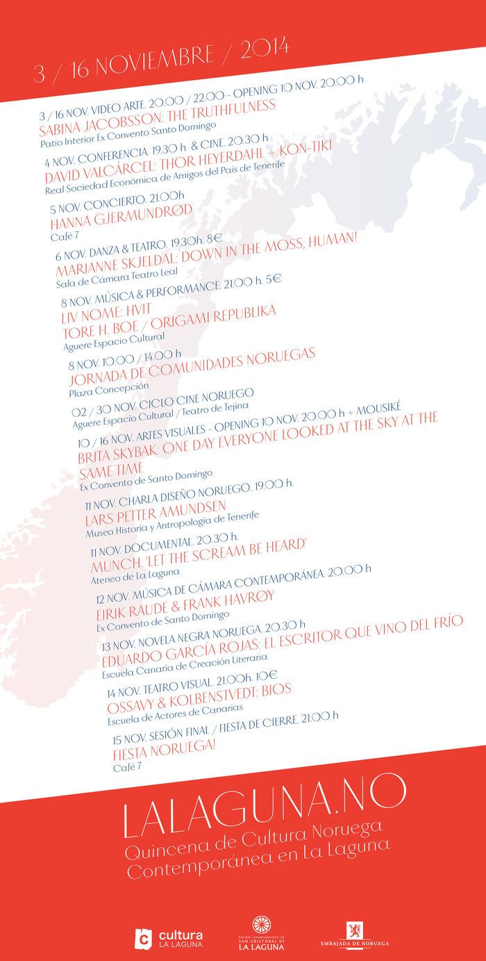 Norwegian Cultural Fortnight in La Laguna 2014