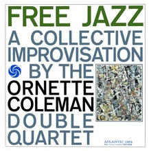 Ornette Coleman Double Quartet – <cite>Free Jazz </cite>album art