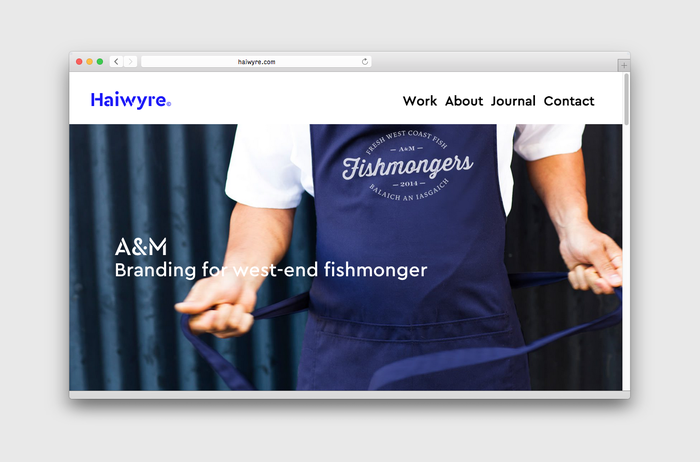 Haiwyre studio website 10
