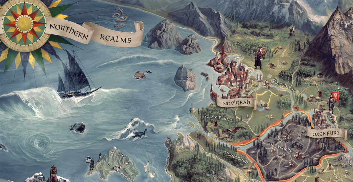 The Witcher 3 world map - Fonts In Use on witcher 3 armor sets, witcher 3 all maps, the witcher map detailed, witcher 3 cave of ruins,