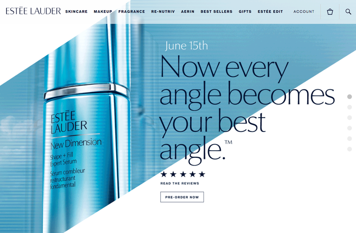 Estée Lauder websites 1