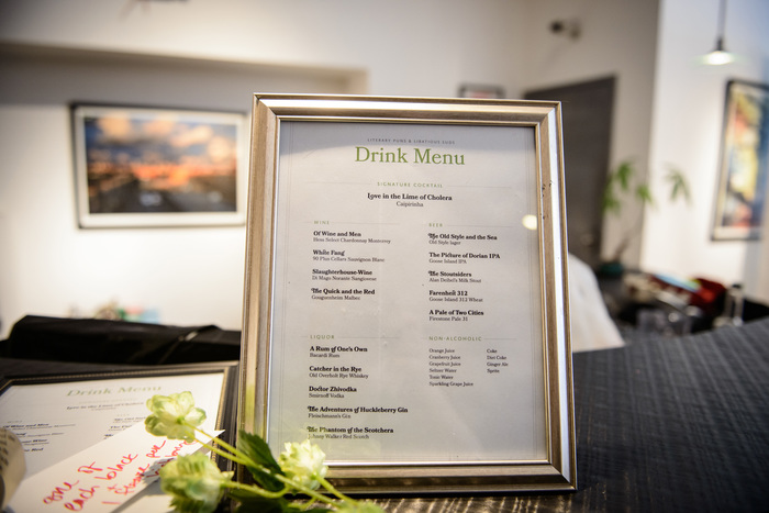 Drink Menu: Literary Puns & Libatious Suds
