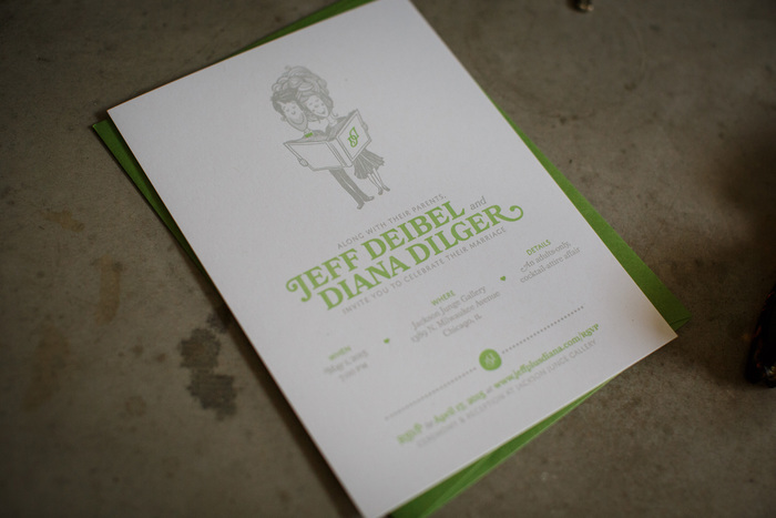 Letterpressed invitations