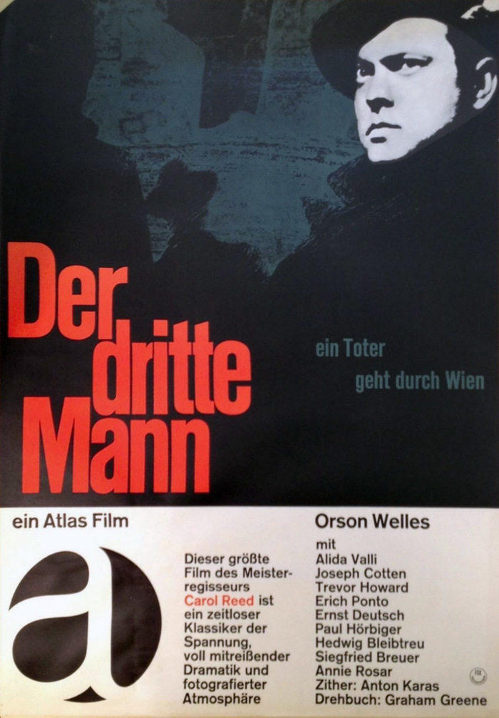 Der dritte Mann (The Third Man) movie poster, Atlas rerelease