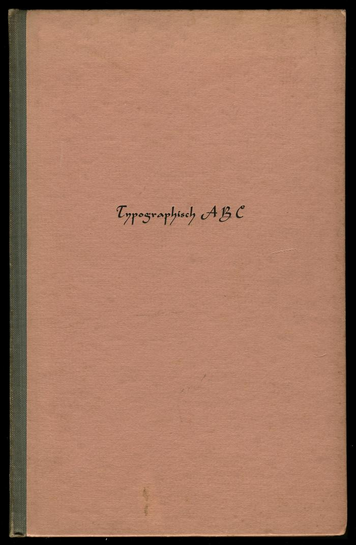 Typographisch ABC by Henri Friedlaender