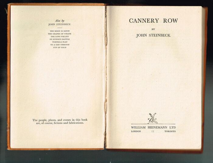 Title page (William Heinemann, London/Toronto, 1945)