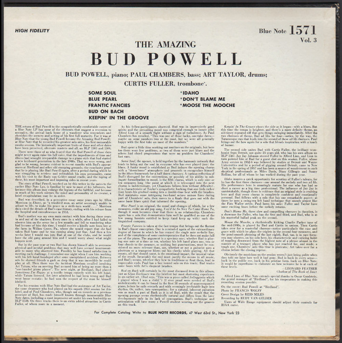 Bud! – The Amazing Bud Powell, Vol. 3 1